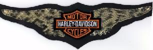 S120 Rattlesnake Snakeskin Backpatch 12X4 inches with Harley Bar and Shield